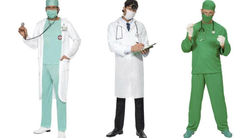 læge kostume til voksne lægekostume kirurgkostume livredderudklædning fastelavnskostume til voksne lægekittel kostume lægeuniform udklædning grøn kirurg stetoskop