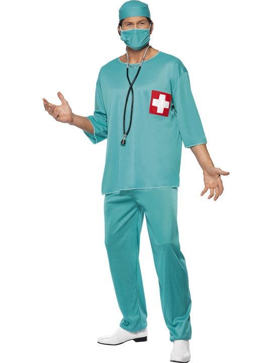 læge kostume til voksne lægekostume kirurgkostume livredderudklædning fastelavnskostume til voksne