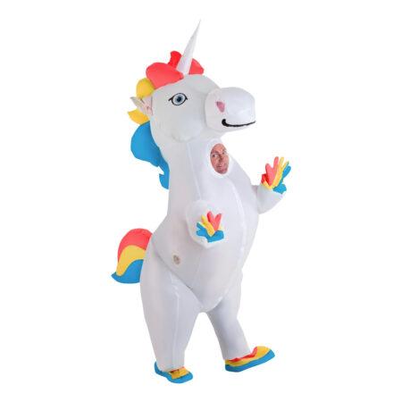 oppustelig unicorm kostume oppustelig enhjørning kostume