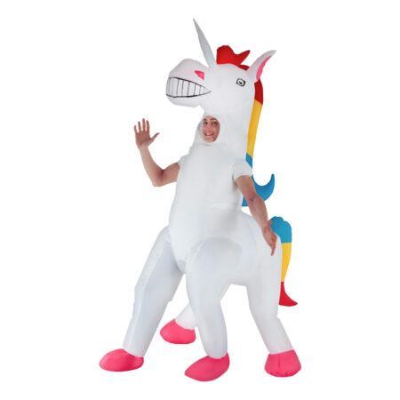 oppustelig unicorm kostume oppustelig enhjørning kostume til voksne