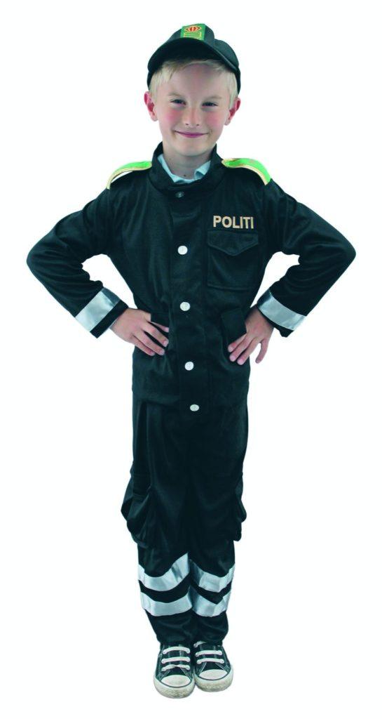 politimand kostume til børn politimand børnekostume politi udklædning politiuniform kostume dansk politi udklædning børn