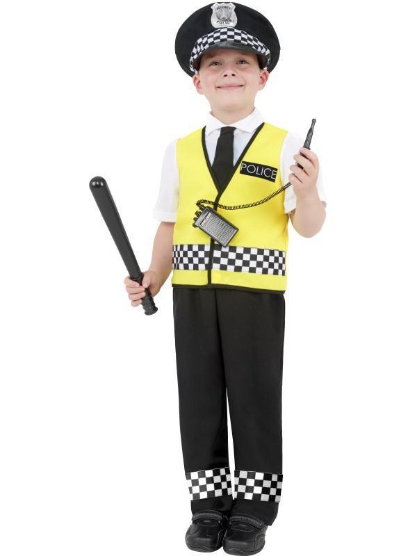 politimand kostume til børn politimand børnekostume politi udklædning trafikpoliti kostume