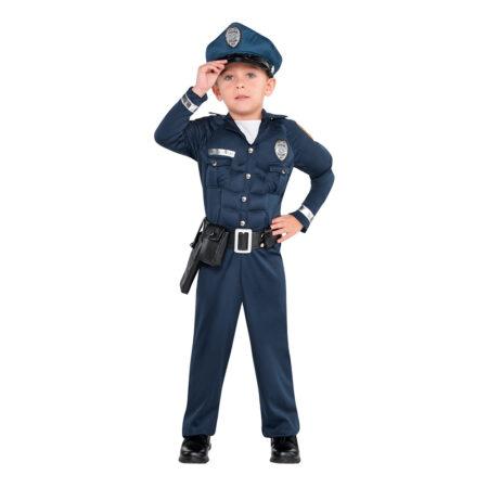 politimand med muskler kostume politi børnekostume