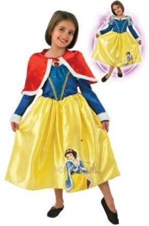 snehvide kostume med kappe snehvide udklædning til børn snehvide fastelavnkostume