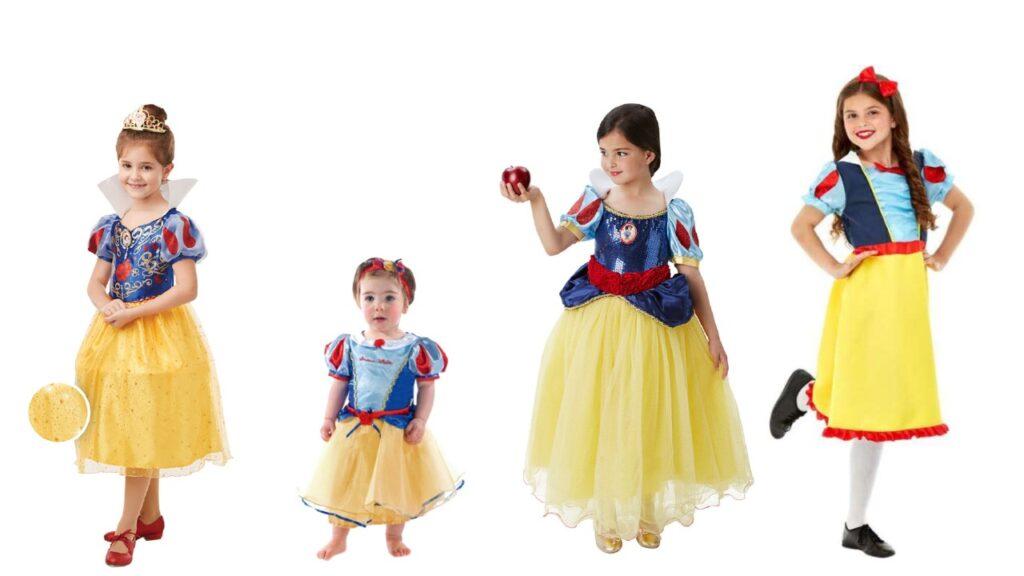 snehvide kostume til piger snehvide børnekostume snehvide disney udklædning