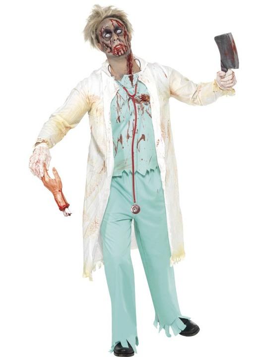 zombielæge kostume lægekostume til halloween voksenkostume halloween