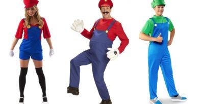 super mario kostume til voksne, super mario udklædning til voksne, super mario dragt til voksne, mario voksen kostumer, luigi kostumer, luigi udklædning, karneval kostume til voksne, sidste skoledag kostume, kostumeuniverset