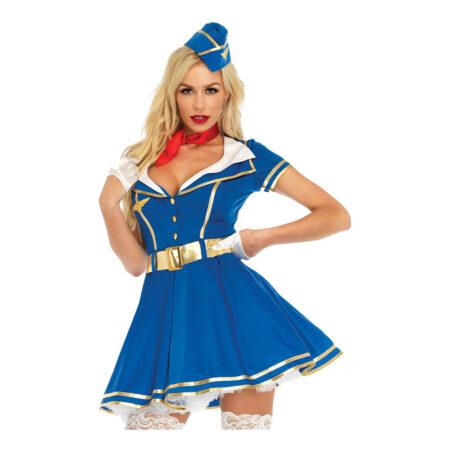 frækt stewardesse kostume til voksne sexet stewardesse kostume udklædning sidste skoledag