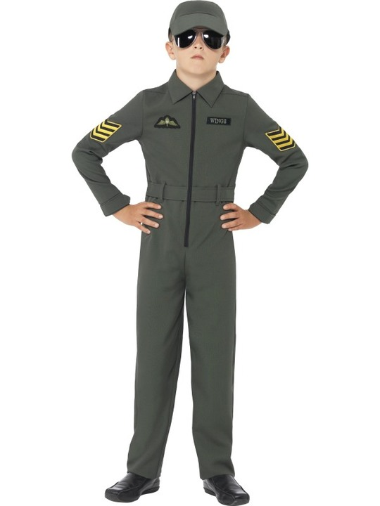 jetjager kostume til børn F16 kostume jægerpilot kostume pilot kostume til børn pilot børnekostume