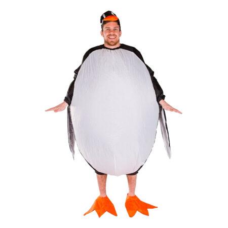 oppusteligt kostume pingvin kostume