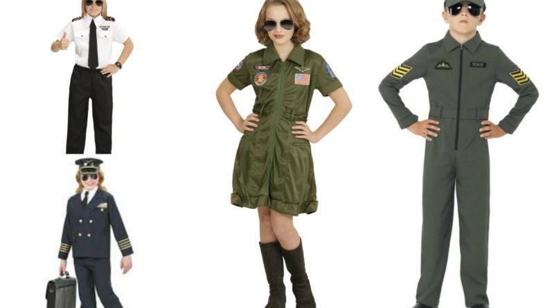 pilot kostume til børn jagerpilot pige kostume børneudklædning