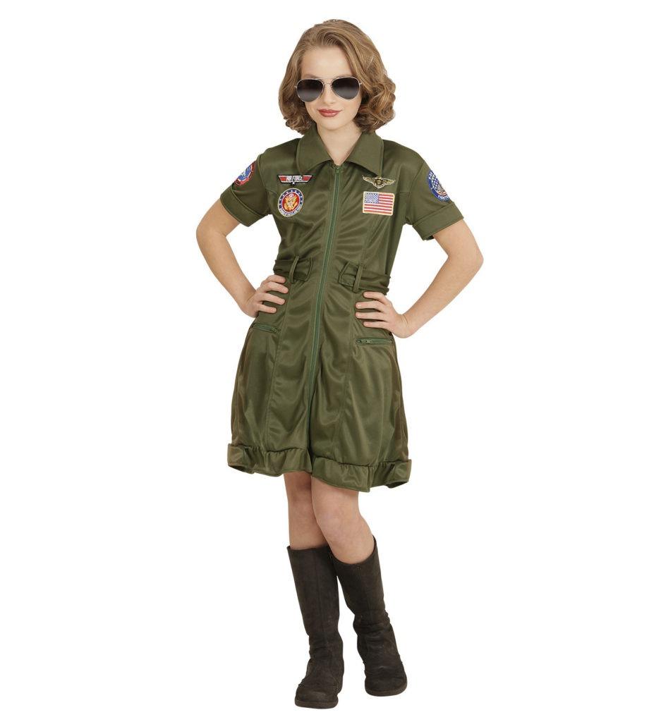 pilot kostume til børn jagerpilot pige kostume udklædning