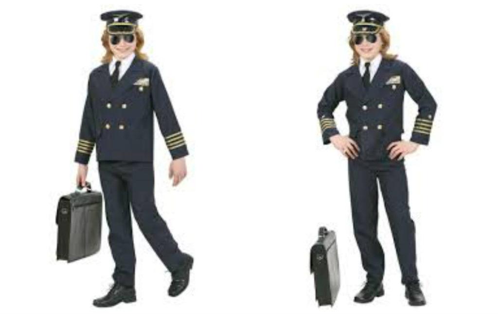 pilot kostume til børn luftkaptajn kostume til børn pilotkaptajn børnekostume udklædning