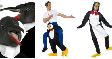 pingvin kostume til voksne sidste skoledag karneval fastelavn pingvinmaske