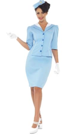 stewardesse kostume til voksne sidste skoledag kostume