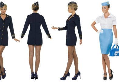 stewardesse kostume til voksne stewardesse uniform udklædning pige sidste skoledag udklædning karnevalskostumer