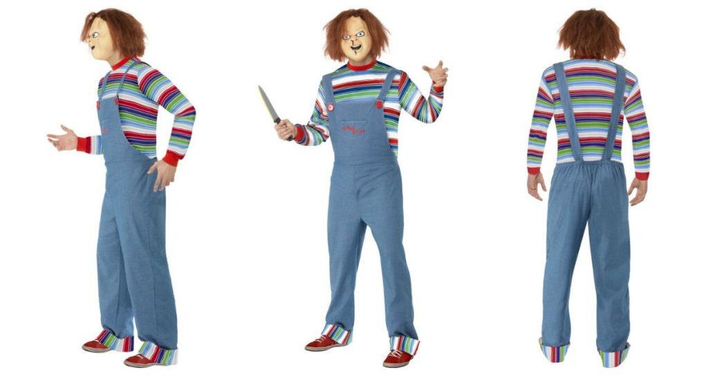 chucky kostumet il voksne chucky udklædning uhyggeligt halloween kostume 80er fest kostume outfit