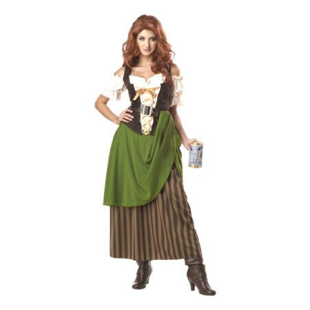 kromutter kostume værtshus kostume oktoberfest vært kostume oktoberfest lang kjole