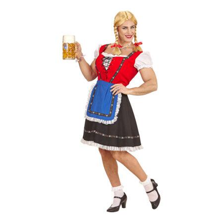 mandlig tyrolerkjole kostume oktoberfest dragqueen kostume