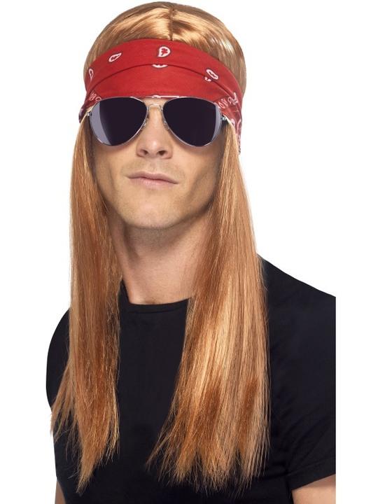90er fest kostume 90er tøj 90er kostume 90er udklædning 90er temafest rock in roll kostume langhåret bandana udklædning