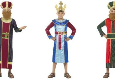 De tre vise mænd kostume til børn kostume til krybbespil magisk konge bibelsk konge kong balthazar balthazar kong melcior kong caspar børnekostume