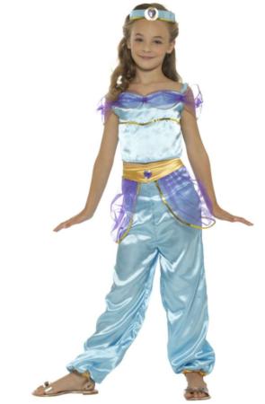 arabisk prinsesse kostume til pigeer blå prinsesse kostume til børn