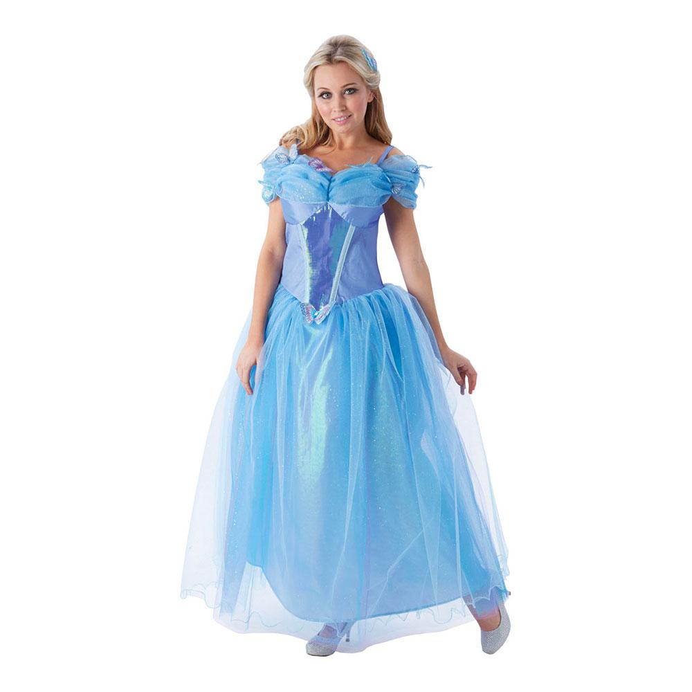 26aca16f6445 askeport kostume til voksne askepot balkjole lyseblå udklædning til kvinder  prinsessekjole ...