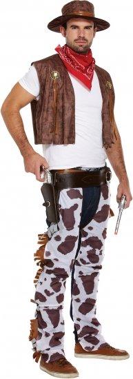 cowboy kostume til voksne kobukser cowboyvest udklædning til karneval kostume til sidste skoledag fastelavnskostume til voksne
