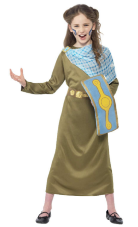 dronning boudica kostume til børn dronning boudica børnekostume