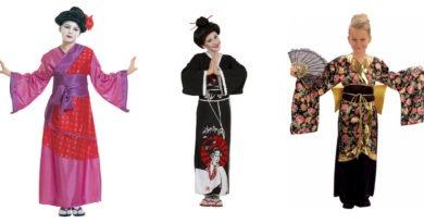 geisha kostume til børn kimono til børn japansk kostume til piger blomstret kimono fastelavnskostume japansk udklædning geisha voksne 390x205 - Geisha kostume til børn og voksne