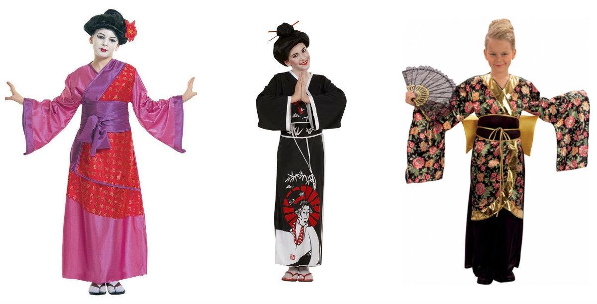 6b7b31560ba geisha kostume til børn kimono til børn japansk kostume til piger blomstret  kimono fastelavnskostume japansk udklædning