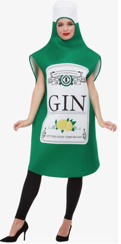 gin flaske kostume til voksne drikkekostume 507x1024 - Flaskekjoler og andre sjove drikkekostumer
