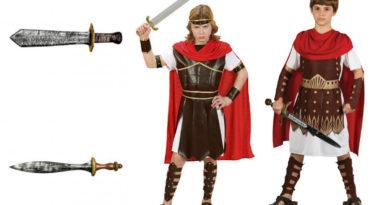 gladiator kostume til børn romersk kriger kosstume til børn kriger kostume historisk kostume til børn rollespil kostume fastelavnskostume barn
