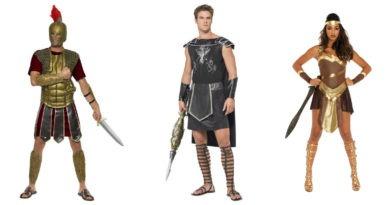 gladiator kostume til kvinder kriger kostume til voskne gladiator kostume til voksne romersk kostume til voksne karnevalskostume til voksne sidste skoledag 390x205 - Gladiator kostume til voksne