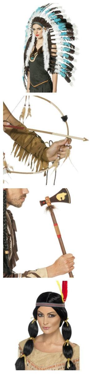 indianer kostume tilbehør