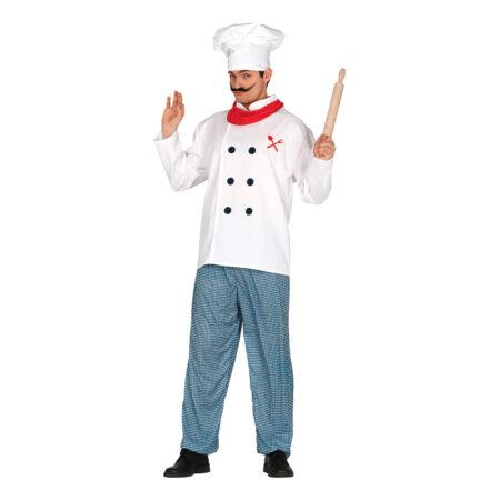 klassisk kok kostume  450x450 - Kokke kostume til voksne