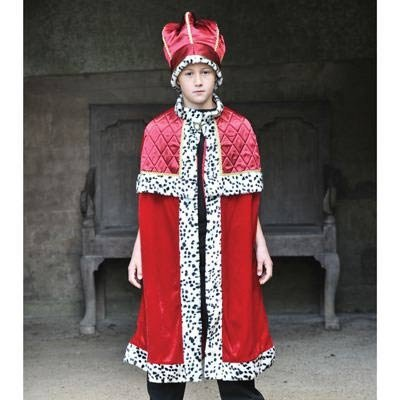 konge kostume til børn kongekappe og kongekrone tll børn fastelavnskostume eventyrligt kostume til børn konge børnekostume
