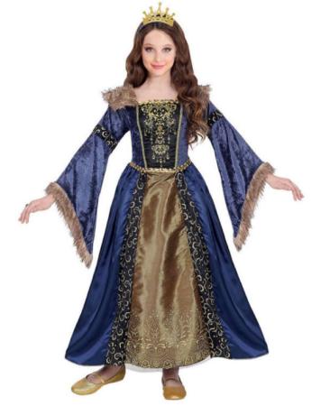 middelalderdronning kostume til barn middelalder dronning børnekostume