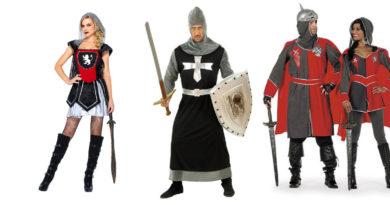 ridder kostume til voksne kvindelige ridder ridderdragt ridderkostume rustning til voksne Jeanne dArc kostume pige ridder ringridning kostume fastelavnstøj udklædning