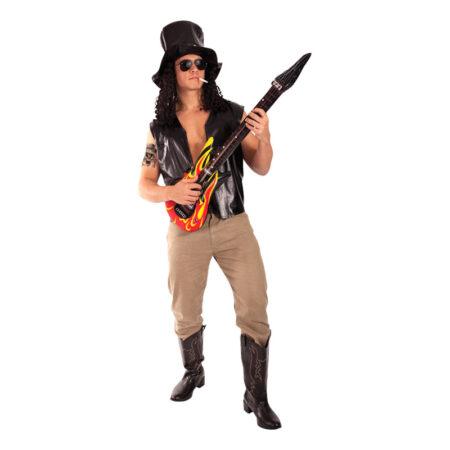 slash guns n roses kostume til voksne rockstjerne kostume 90er temafest