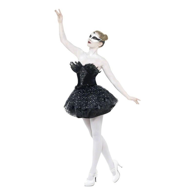 svanesøen ballerina kostume til voksne sort ballerina kjole ballet kostume karnevalskostume fastelavnskostume