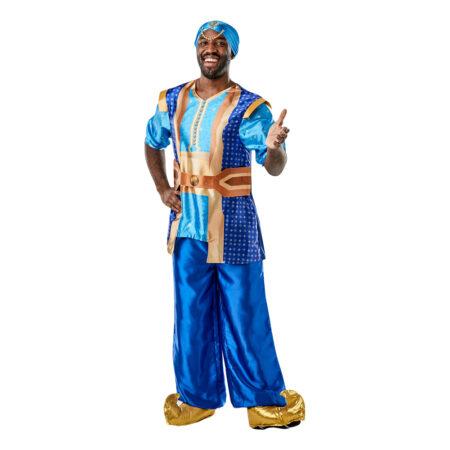ånden i flasken genie kostume til voksne blåt kostume voksenkostume