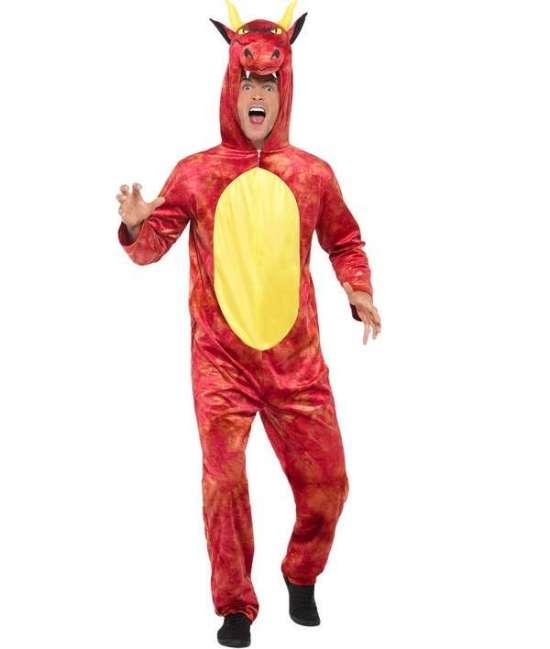 Deluxe drage kostume - Drage kostume til voksne
