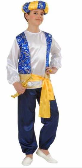arabisk kostume til børn arabisk prins børneudklædning kostume med turban til børn