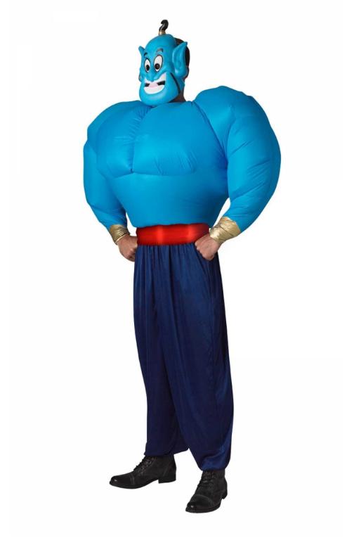 arabisk kostume til voksne genie kostume til voksne oppustelig kostume til voksne blåt kostume 1001 nat udkædning aladdin kostume ånd kostume
