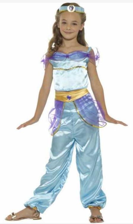 arabisk prinsesse kostume til piger arabisk kostume til børn prinsesse jasmin børnekostume lilla kostume mavedanser kostume til børn. prinsesse