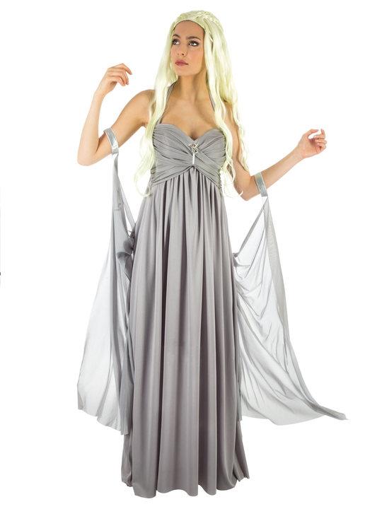 e05d1a01 games of thrones kostume til voksne dragedronning kostume grå kjole