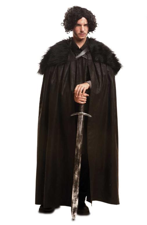 14500028 games of thrones kostume til voksne jon snow kappe jon snow kostume til  voksne temafest kotume