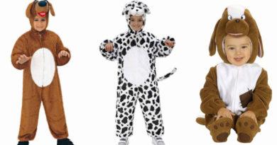 hundekostume til baby hund babykostume hund børnekostume hundekostume til børn paw patrol hundekostume chase udklædning 101 dalmatiner brun hund kostume 390x205 - Hundekostume til børn og baby