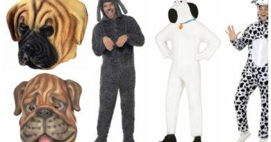 hundekostume til voksne hund udklædning 101 dalmatiner hund voksenkostume kostumeuniverset brug hund hvid hund hundemasker 390x205 - Hundekostume til voksne